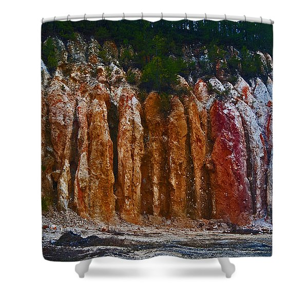 Tombs Land Formation Shower Curtain