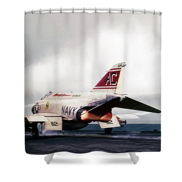 Tomcatter Launch Shower Curtain
