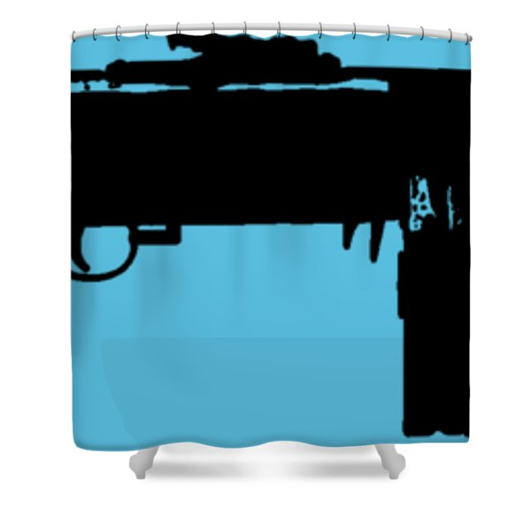 Tommy Gun Tee Shower Curtain