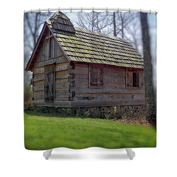 Tom's Country Church And School Shower Curtain