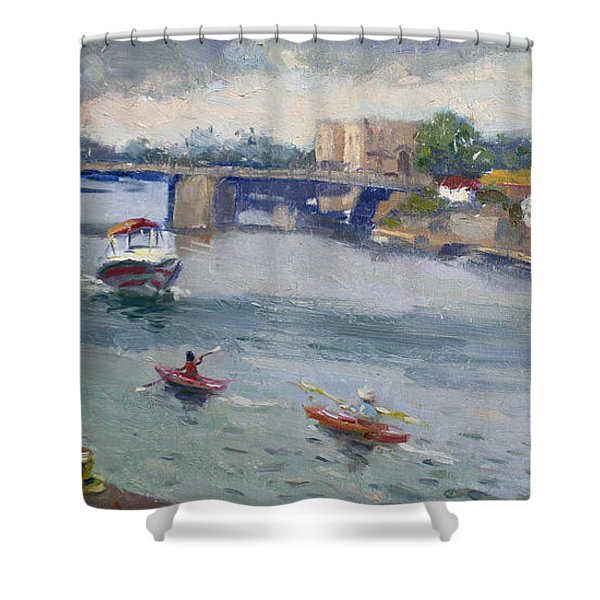 Tonawandas Gateway Harbor Shower Curtain