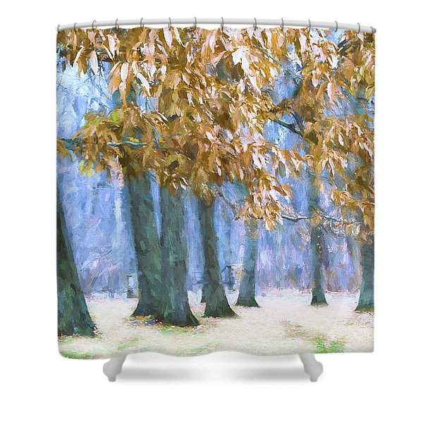 Tones Of Winter Shower Curtain