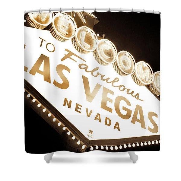 Tonight In Vegas Shower Curtain