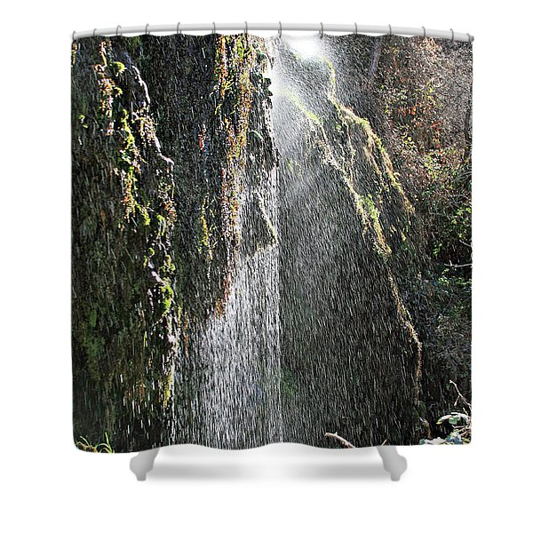 Tonto Waterfall Splash Shower Curtain