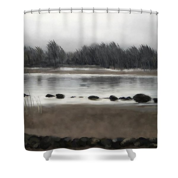 Too Early Out Shower Curtain