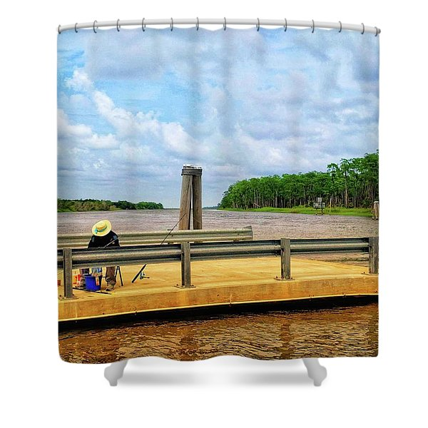 Too Hot To Fish Shower Curtain