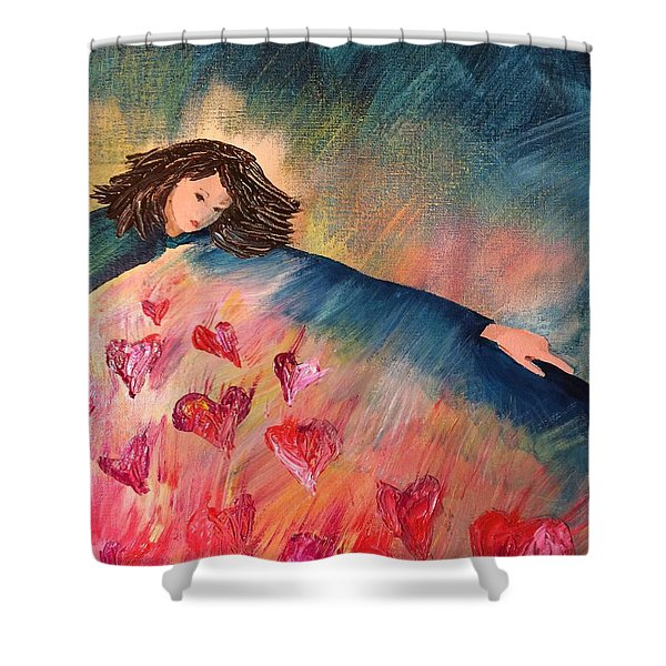 Too Much Love To Contain Shower Curtain