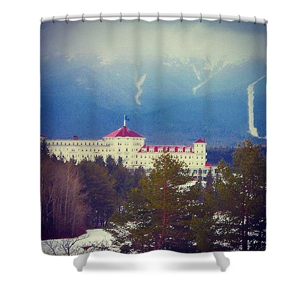 Foot Of The Mountain  Shower Curtain