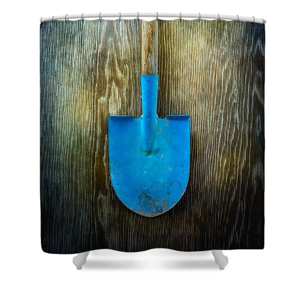 Tools On Wood 23 Shower Curtain