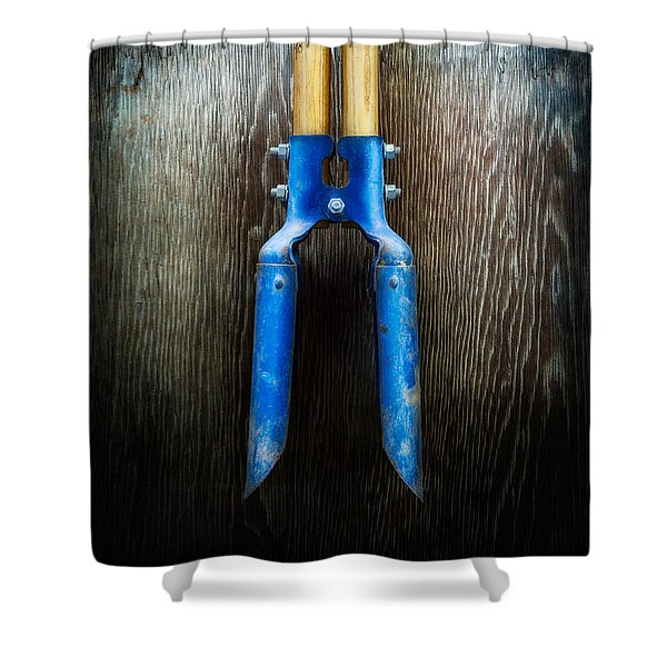 Tools On Wood 24 Shower Curtain