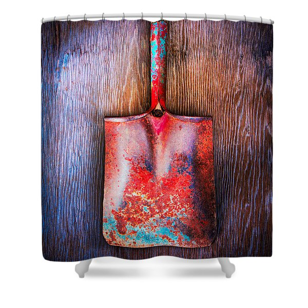 Tools On Wood 47 Shower Curtain