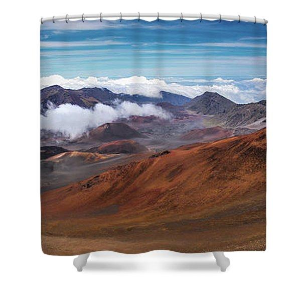 Top Of Haleakala Crater Shower Curtain
