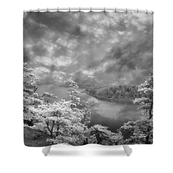 Top Of Tip Toe Mountain, Vinalhaven, Maine Shower Curtain
