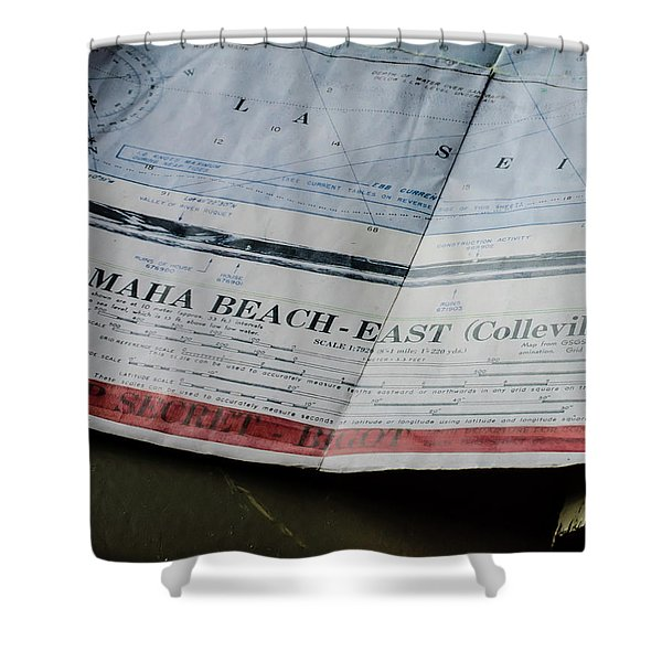 Top Secret - Omaha Beach Shower Curtain
