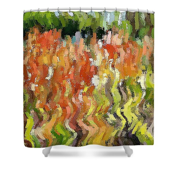 Torch Lilies Shower Curtain