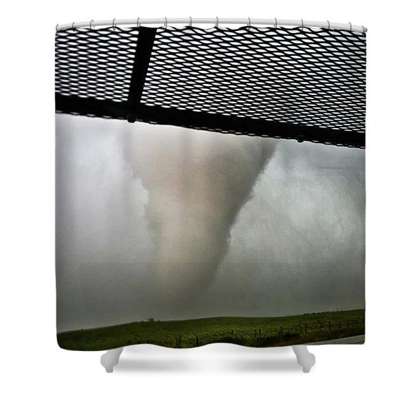 Tornado Near Yorkton Sk. Shower Curtain
