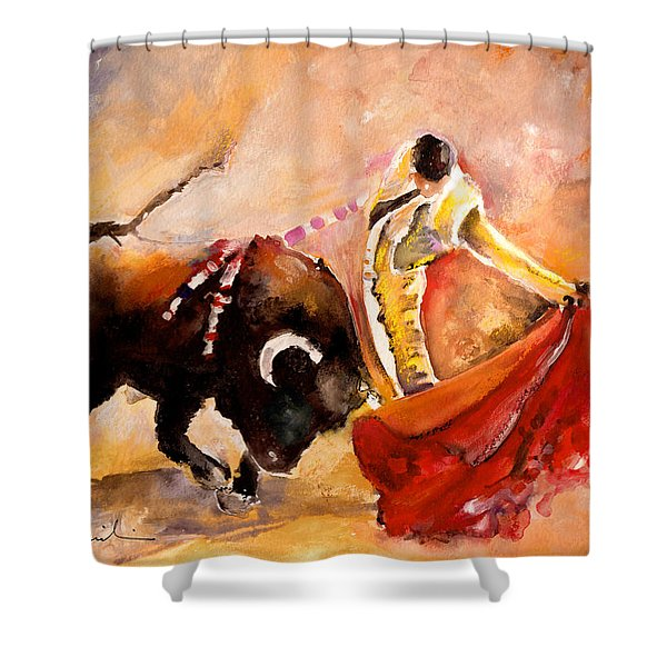 Toro Acuarela Shower Curtain