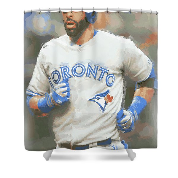 Toronto Blue Jays Jose Bautista Shower Curtain