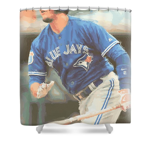 Toronto Blue Jays Troy Tulowitzki Shower Curtain