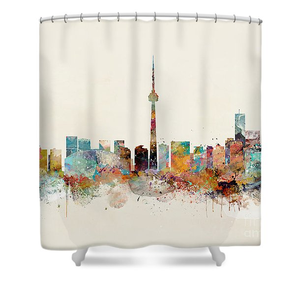 Toronto City Skyline Shower Curtain