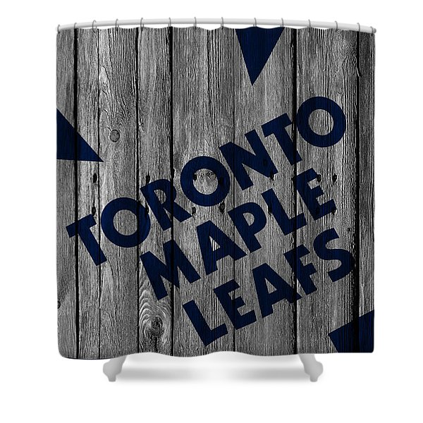 Toronto Maple Leafs Wood Fence Shower Curtain