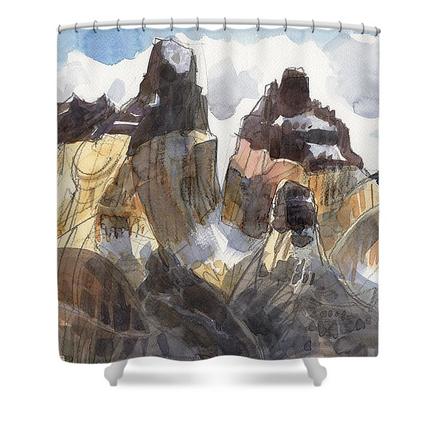 Torres Del Paine, Chile Shower Curtain