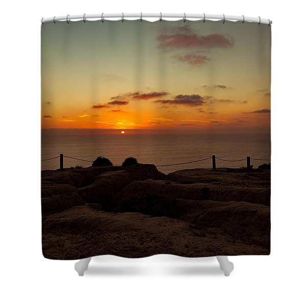 Torrey Pine Glider Port Sunset Shower Curtain
