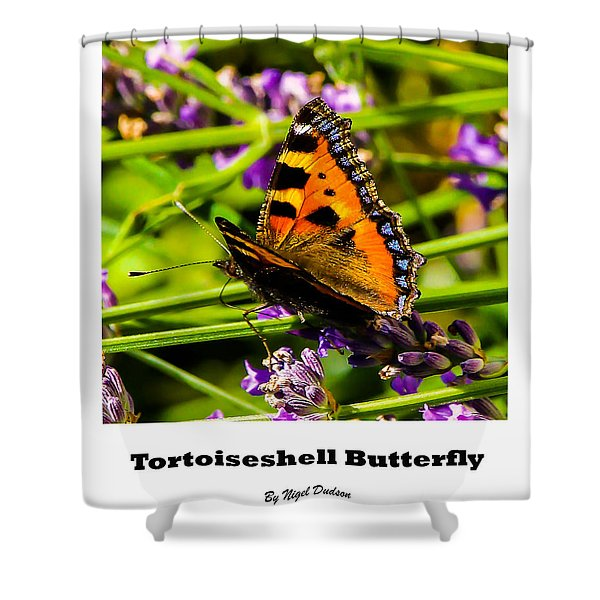 Tortoiseshell Butterfly. Shower Curtain