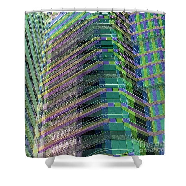 Abstract Angles Shower Curtain