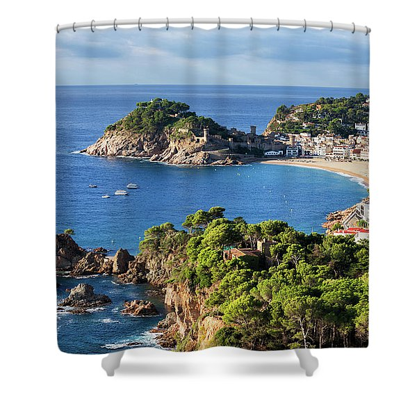 Tossa De Mar Sea Town On Costa Brava In Spain Shower Curtain