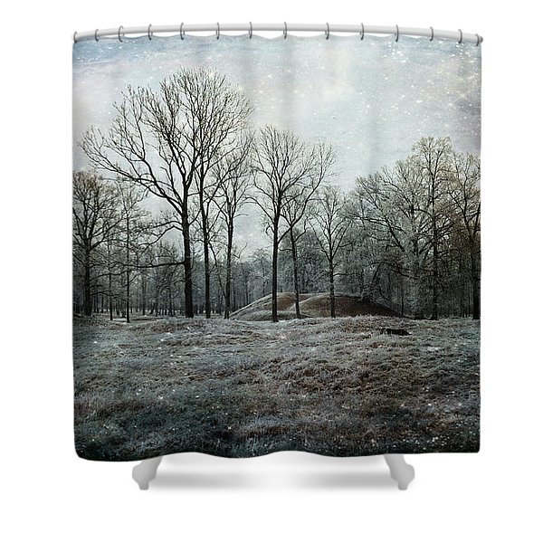 Total Absence Shower Curtain