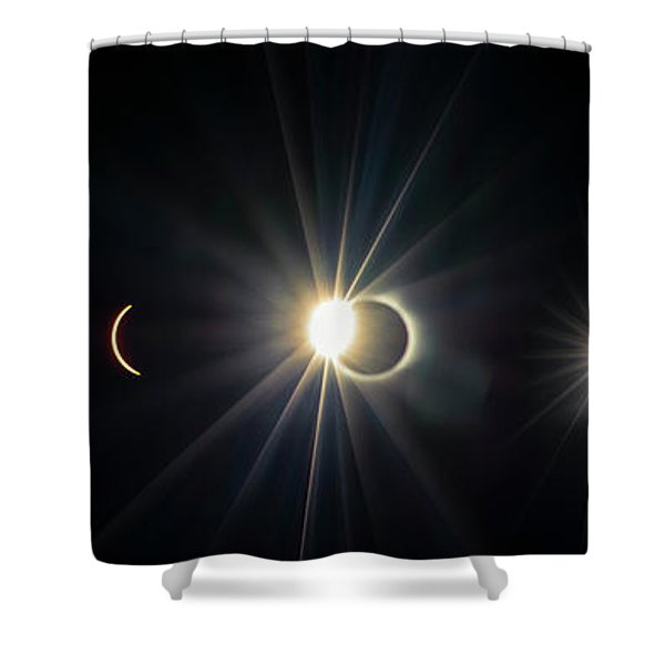 Total Solar Eclipse Sequence Shower Curtain