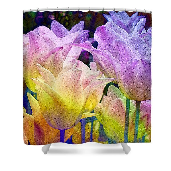 Totally Tulips Two Shower Curtain