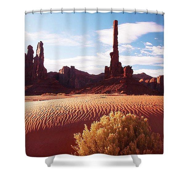 Totem Pole Shower Curtain