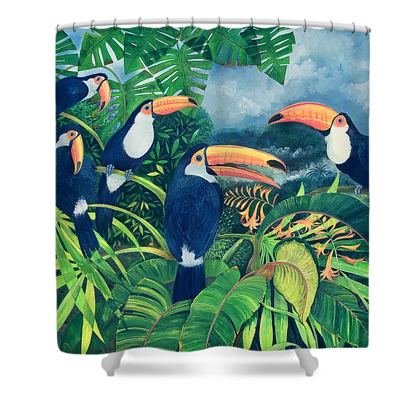 Toucan Talk Shower Curtain