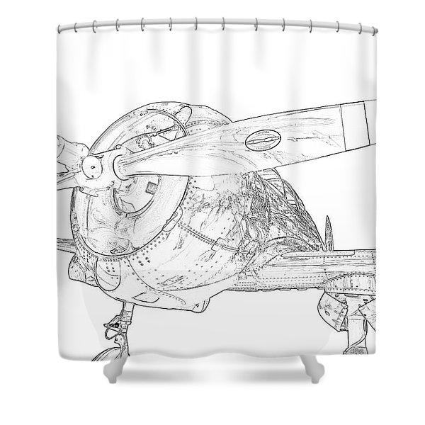 Touch And Go Shower Curtain
