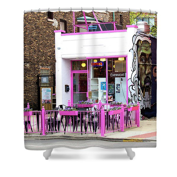 Touch Of Pink Empanadas From Chicago Shower Curtain