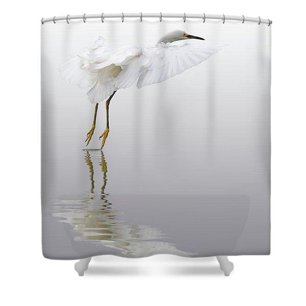 Touching Down Shower Curtain