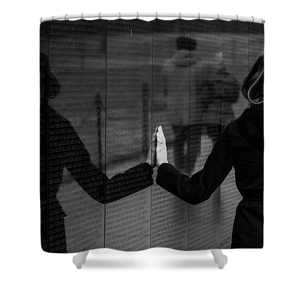Touching Moment Shower Curtain