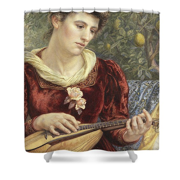 Touching The Strings Shower Curtain