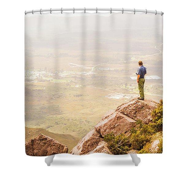 Tourist On The Tip Of Western Tasmania Shower Curtain