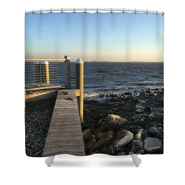 Towards The Bay Shower Curtain