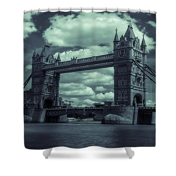 Tower Bridge Bw Shower Curtain