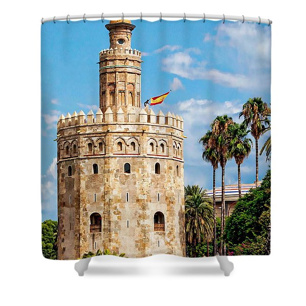 Tower Of Gold Shower Curtain
