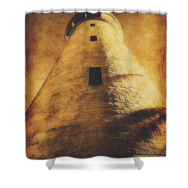 Tower Of Grunge Shower Curtain