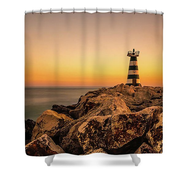 Shower Curtain featuring the photograph Tower Of Light by Nick Bywater