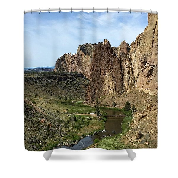 Towering Smith Rocks Shower Curtain