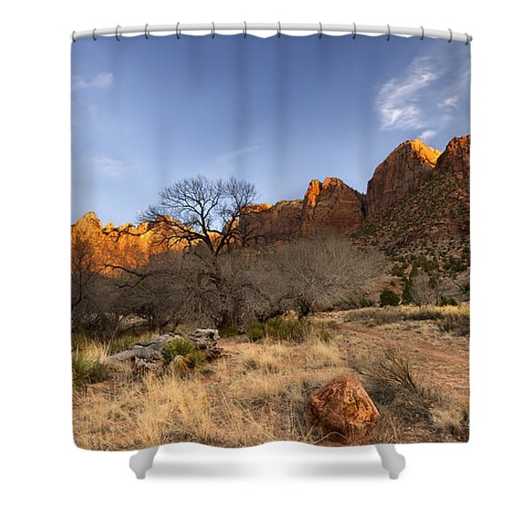 Towers Of The Virgin Shower Curtain