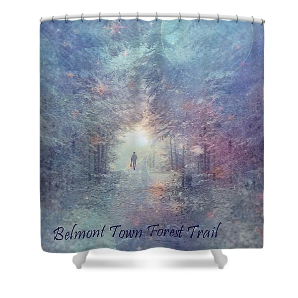 Town Forest Trail Shower Curtain