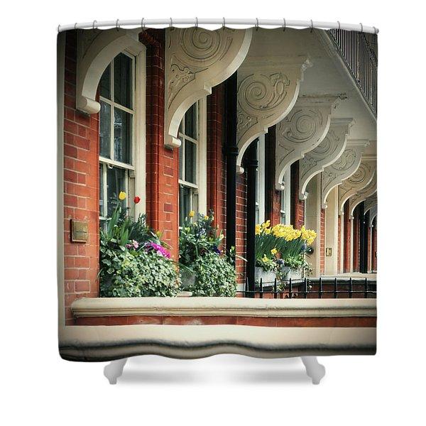 Townhouse Row - London Shower Curtain